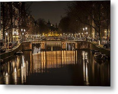 Bridges Of Amsterdam Metal Print by Shari Mattox