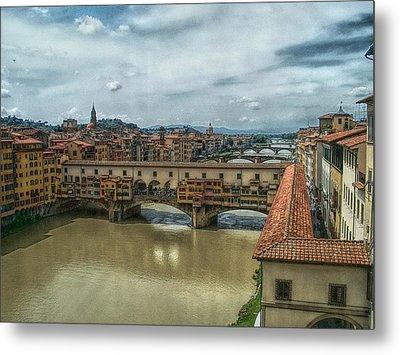 Bridges Of Florence Metal Print by C H Apperson