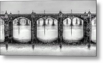 Bridging The Susquehanna  Metal Print by JC Findley