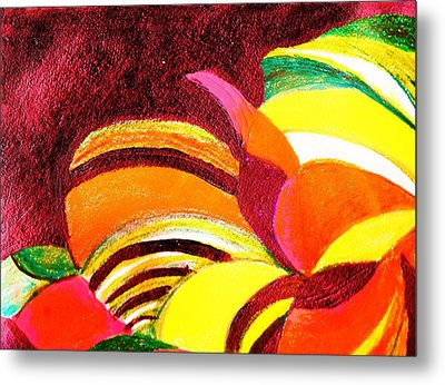 Bright Abstraction Metal Print by Anne-Elizabeth Whiteway