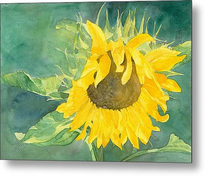 Bright Sunflower Metal Print by K Joann Russell