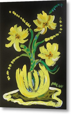 Bright Yellows Metal Print by Mary Carol Williams