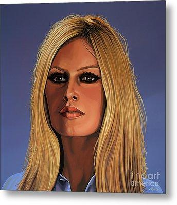 Brigitte Bardot Painting Metal Print by Paul Meijering
