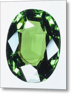 Brilliant Cut Green Grossular (garnet) Metal Print by Dorling Kindersley/uig