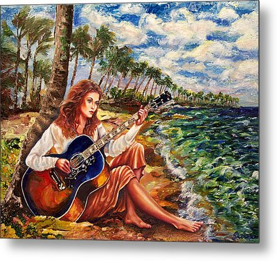 Briny Blues Metal Print by Yelena Rubin