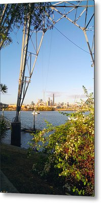 Brisbane City Flying Fox Metal Print by Edwin Vincent