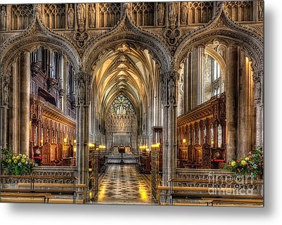 British Church Metal Print by Adrian Evans