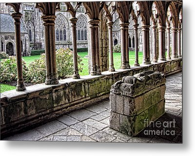 Brittany Cloister  Metal Print by Olivier Le Queinec