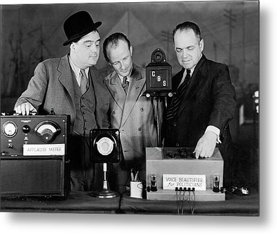 Broadcasting For Politicians Metal Print by Underwood Archives