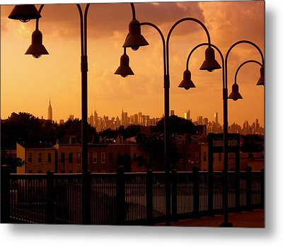 Broadway Junction In Brooklyn Metal Print by Monique Wegmueller