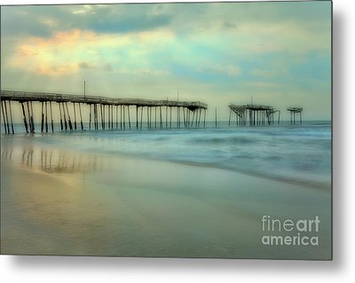 Broken Dreams - Frisco Pier Outer Banks II Metal Print by Dan Carmichael