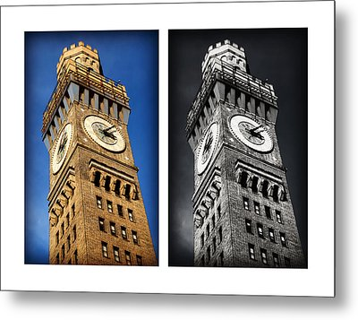 Bromo Seltzer Black And Blue Metal Print by Stephen Stookey
