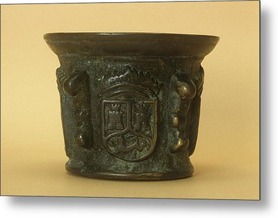 Bronze Mortar Metal Print by Science Photo Library