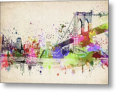 Brooklyn Bridge Metal Print by Aged Pixel