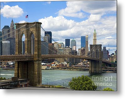 Brooklyn Bridge Metal Print by Diane Diederich