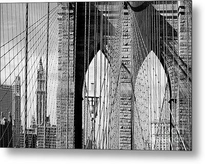 Brooklyn Bridge New York City Usa Metal Print by Sabine Jacobs