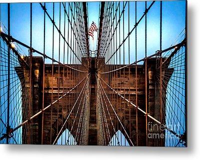 Brooklyn Perspective Metal Print by Az Jackson