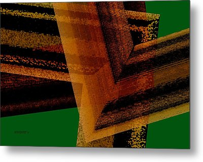 Brown And Green Art Metal Print by Mario Perez