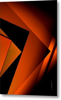 Brown Over Black In Abstract Art Metal Print by Mario Perez