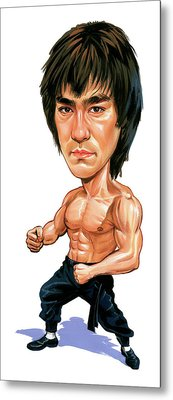 Bruce Lee Metal Print by Art