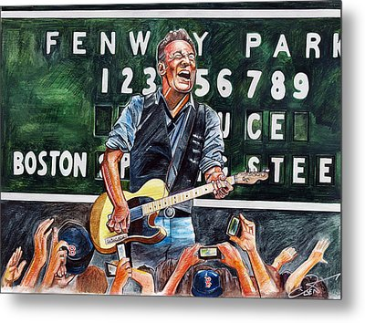 Bruce Springsteen At Fenway Park Metal Print by Dave Olsen
