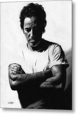 Bruce Springsteen  Metal Print by Justin Clark