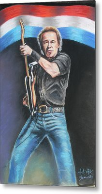 Bruce Springsteen  Metal Print by Melinda Saminski