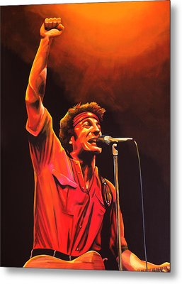 Bruce Springsteen Painting Metal Print by Paul Meijering