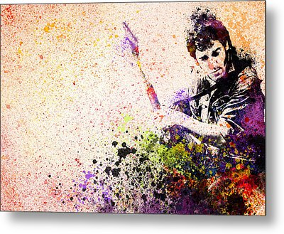 Bruce Springsteen Splats 2 Metal Print by Bekim Art