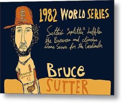 Bruce Sutter St Louis Cardinals Metal Print by Jay Perkins