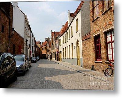 Bruges Side Street Metal Print by Carol Groenen