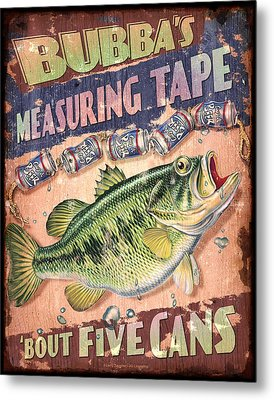 Bubba Measuring Tape Metal Print by JQ Licensing