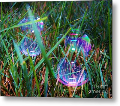 Bubble Illusions 1 Metal Print by Judy Via-Wolff