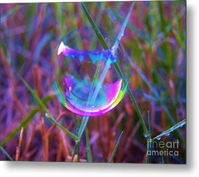 Bubble Illusions 3 Metal Print by Judy Via-Wolff