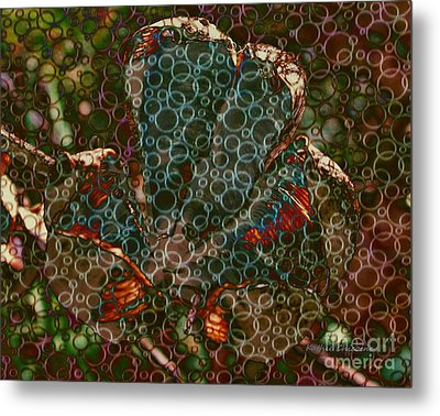 Bubbling Up Metal Print by Kathie Chicoine