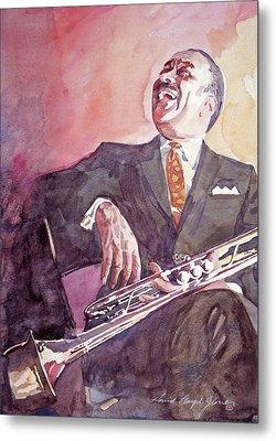 Buck Clayton Jazz Horn Metal Print by David Lloyd Glover