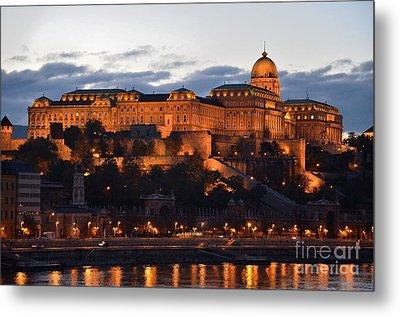 Budapest Palace At Night Hungary Metal Print by Imran Ahmed