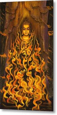 Buddha. Fire Of Meditation Metal Print by Vrindavan Das