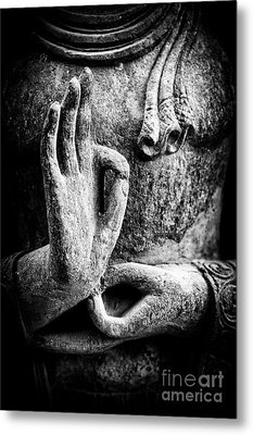 Buddha Hand Mudra Metal Print by Tim Gainey