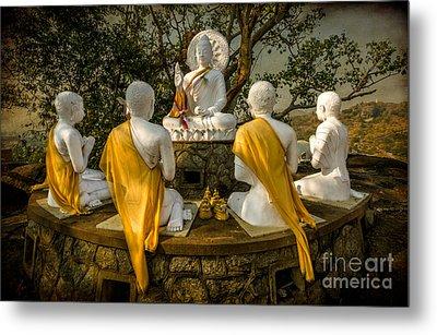 Buddha Lessons Metal Print by Adrian Evans