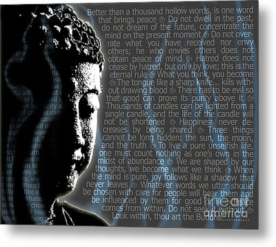 Buddha Quotes Metal Print by Sassan Filsoof