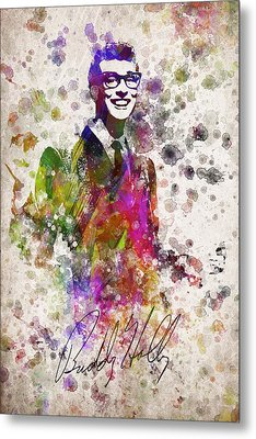 Buddy Holly In Color Metal Print by Aged Pixel