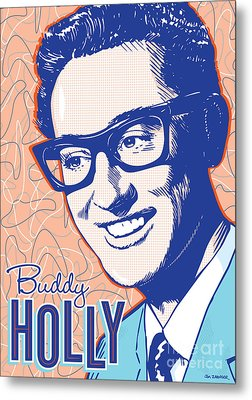 Buddy Holly Pop Art Metal Print by Jim Zahniser