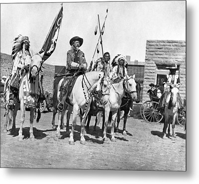Buffalo Bill And Friends Metal Print by Underwood Archives