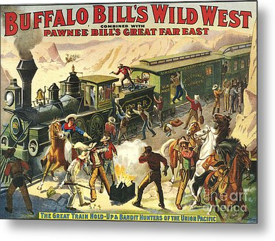 Buffalo Bill's Wild West Show  1907 Metal Print by The Advertising Archives
