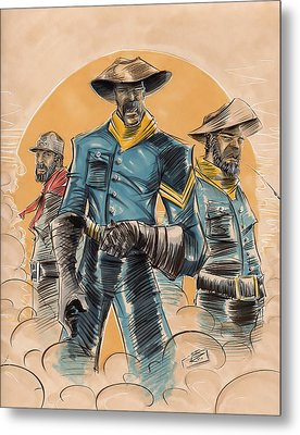 Buffalo Soldiers Metal Print by Tu-Kwon Thomas
