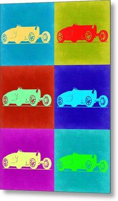 Bugatti Type 35 R Pop Art 2 Metal Print by Naxart Studio