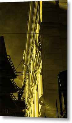 Building And Crane  Metal Print by Toppart Sweden