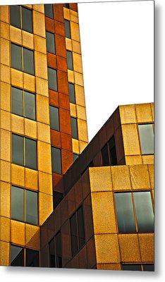Building Blocks Metal Print by Karol Livote