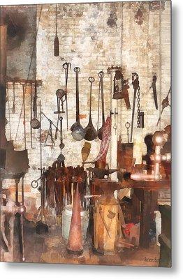 Building Trades - Hand Tools In Machine Shop Metal Print by Susan Savad